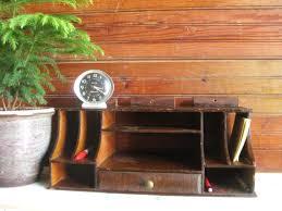 Vintage Desk Organizers Antique Desk Organizer Vintage Wood Desk Organizer Wonderful Blue
