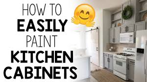 how to quickly paint cabinets how to easily paint kitchen cabinets