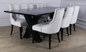 Luxury Dining Table And Chairs Appealing White Leather Dining Chairs And Table 37 For Dining Room