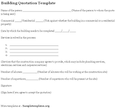 construction work quotation for construction work