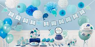 blue baby whale baby shower decorations whale gender neutral