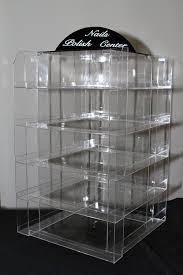 amazon com nail polish rack display rotating fits up to 140