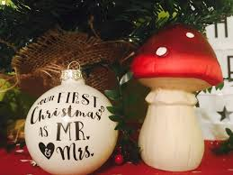diy mr u0026 mrs first christmas ornament with vinyl free cut file