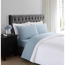 soft bed sheets truly soft everyday light blue queen sheet set ss1658lbqn 4700