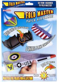 amazon com kangaroo u0027s paper airplane kit 72 paper airplanes