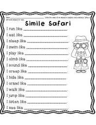 simile and metaphor worksheet 5th grade worksheets