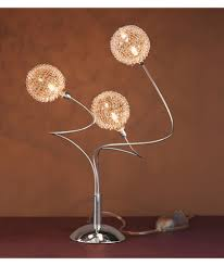 buy heart of house helena squiggle 3 light table lamp chrome at
