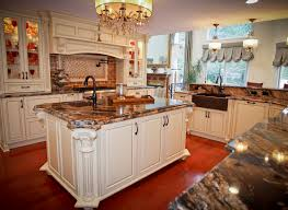 traditional old world charm spring lake new jersey by design line kitchen island with angled posts