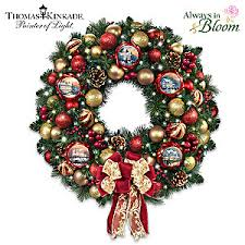 lighted christmas wreath kinkade season of splendor lighted christmas wreath
