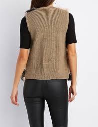 fur sweater multicolor faux fur sweater vest russe