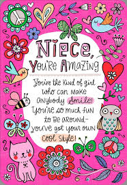 you re the niece families about birthday card greeting