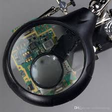 10x magnifying glass with led light repair magnifier led light tools 2 5x 7 5x 10x magnification lupa