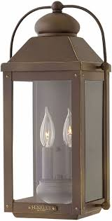 Wall Sconce Bronze Hinkley 1854lz Anchorage Light Oiled Bronze Outdoor Wall Sconce
