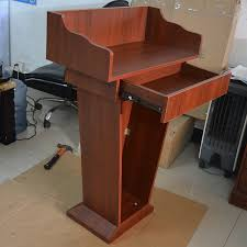 podium style reception desk company presentation station creative restaurant welcome station