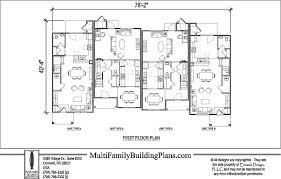 Multi Unit Floor Plans Townhouse Plans