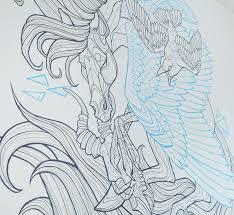 Mural Painting Sketches doud illustration elise vanoorbeek