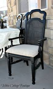 cane back chair makeover dining room pinterest chair