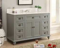 28 Inch Bathroom Vanity by 49 Inch Bathroom Vanity Cottage Beach Style Gray Color 49