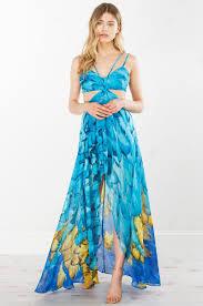 print cut out dress in blue