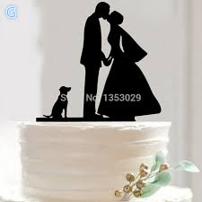 wedding cake topper with dog with dog wedding cake toppers cake birds wedding cake topper