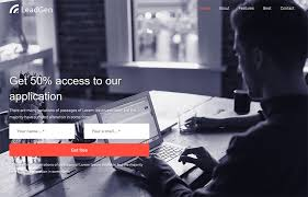 landing page templates for blogger leadgenerator free multipurpose landing page template graygrids