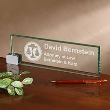 Name Plates For Office Desk Personalized Glass Desk Nameplate Design