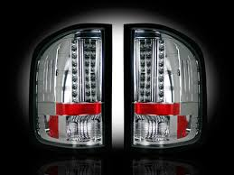 2009 chevy silverado tail lights recon clear l e d tail lights 264175cl