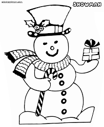 snowman coloring pages coloring pages to download and print