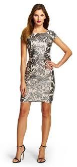 sequin dresses cap sleeve sequin chiffon dress papell