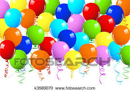 Clipart of Realistic vector illustration of a shiny balloons