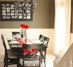 dining room simple white flowers and glass china for amazing
