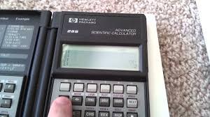 hp 28s advanced scientific calculator part 1 youtube