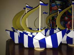 i made these for a friends nautical baby shower centerpiece