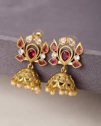buy jhumka earrings online buy jhumkis pearl silver gold plated jhumkis for women online