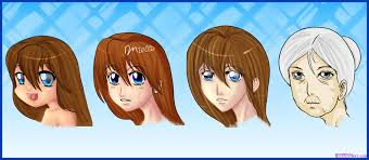 how to draw manga style female faces step by step anime people