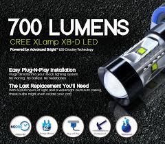opt7 h11 cree led drl fog light bulbs 5000k bright white plug