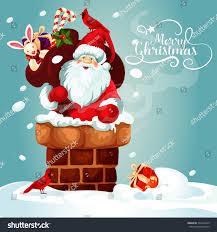 card santa claus on roof stock illustration 535135249