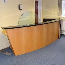 Reception Desk Glass Office Desk Modern Office Desk Glass Desk Office Lobby Furniture
