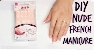 diy kiss salon acrylic french manicure tutorial