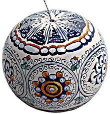 ceramic majolica ornament sphere jubilant 9cm
