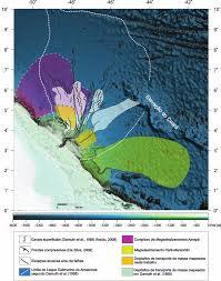 figura 17 u2013 mapa batimétrico ilustrando as ocorrências de