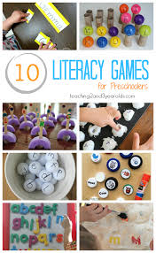 to build preschool literacy skills with games