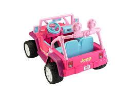 girls jeep wrangler fisher price power wheels barbie jammin u0027 jeep wrangler walmart