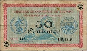 chambre du commerce belfort 50 centimes regionalism and miscellaneous belfort 1917 jp