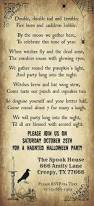 free halloween template print your halloween party invitations with our free template