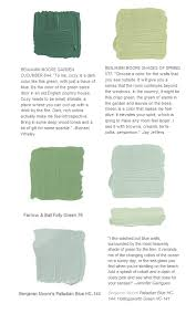 green paint color selection interiors by color
