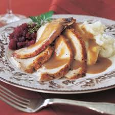 roasted turkey with herbs and port gravy thanksgiving recipe