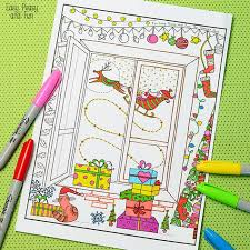 christmas coloring adults kids easy peasy fun