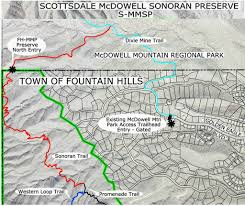 Phoenix Mountain Preserve Map by Fountain Hills Mcdowell Mountain Preserve Maplets