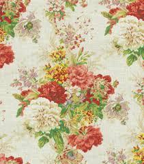 home decor print fabric waverly ballad bouquet radish at joann com